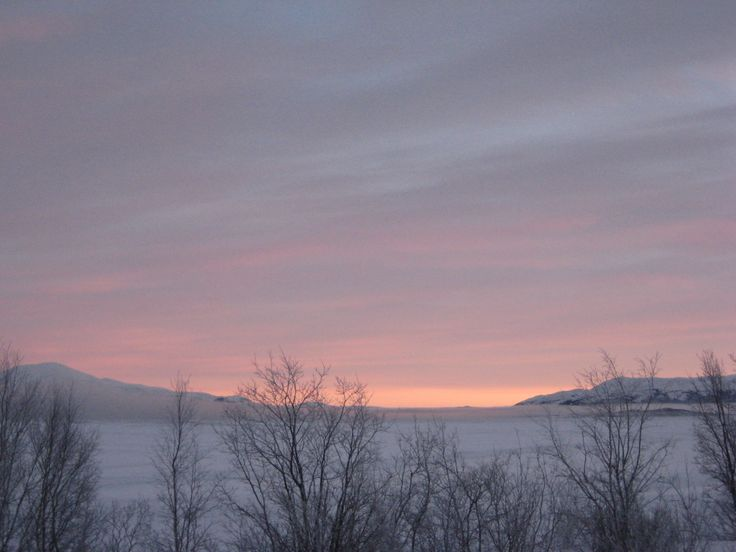 L'alba sul lago Tornesträsk - The dawn on the Torneträsk lake (Roberto Citterio, Abisko)