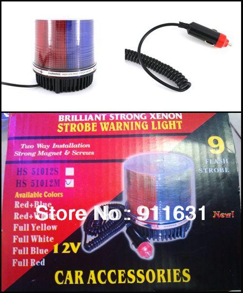 Car Warning Light Led Красный и Синий Цвет Украшения Лампы Светодиодные Автомобилей Лампы-Вспышки Авто Чрезвычайных Стробоскопы