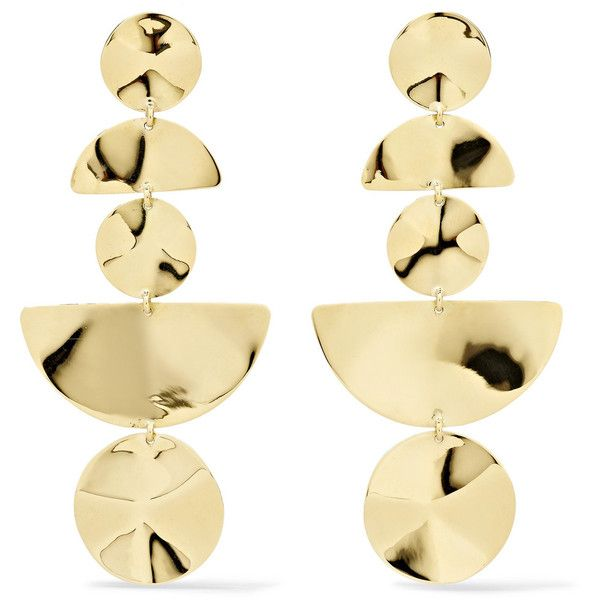 Ippolita Classico 18-karat gold earrings found on Polyvore featuring jewelry, earrings, accessories, holiday jewelry, special occasion jewelry, hand crafted jewelry, 18k jewelry and 18k earrings