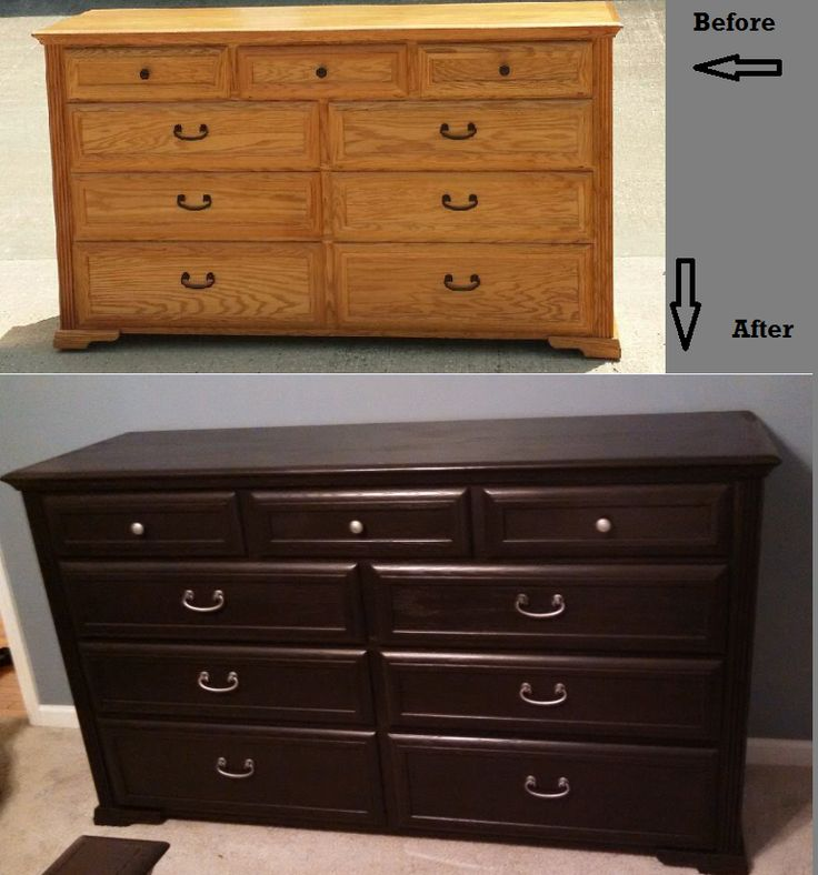 Dresser Before And After Using Rustoleum Furniture