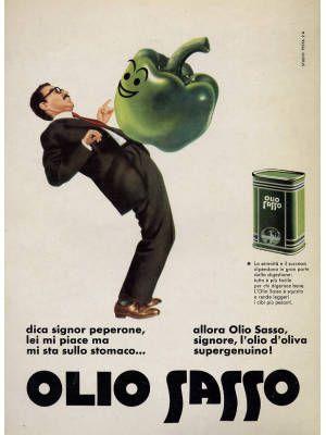 Armando Testa | Olio Sasso - 1959