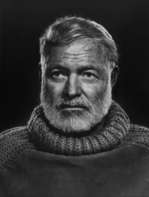 Photographers: Yousuf KARSH. Ernest Hemingway by Yousuf Karsh.