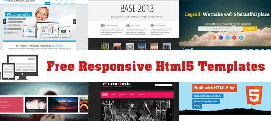 5 Best free responsive html5 website templates