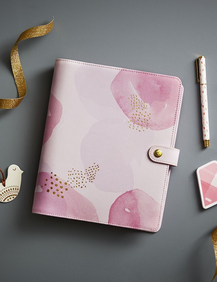 Get organised and fall for Pink with this gorgeous Textured Leather Personal Planner