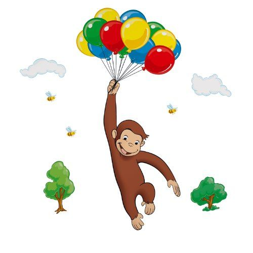 RoomMates Children's Repositonable Wall Stickers, Curious George Giant RoomMates http://www.amazon.co.uk/dp/B000Q7322U/ref=cm_sw_r_pi_dp_lxRZub0KX7PP3