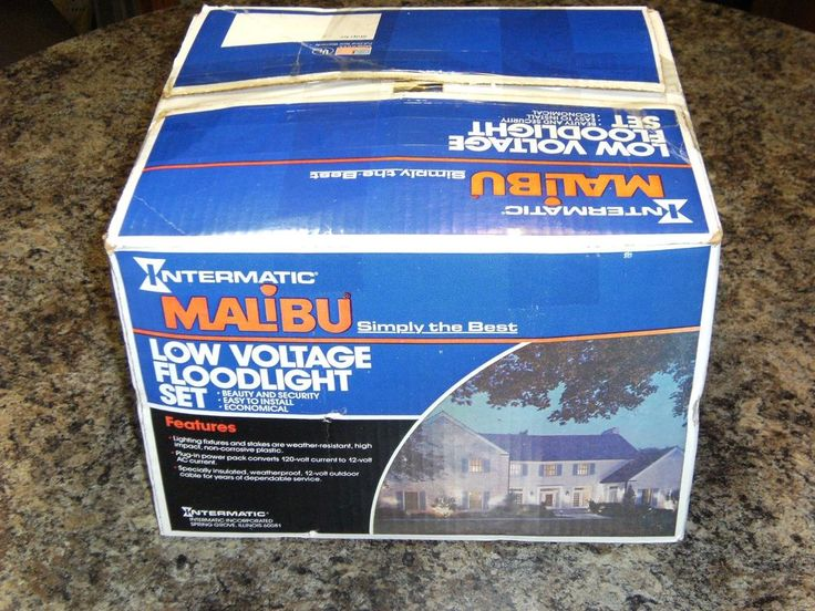 Vintage Malibu 6 Floodlight Low Voltage Landscape Light Set Malibu Lighting NIOB #Malibu #Contemporary