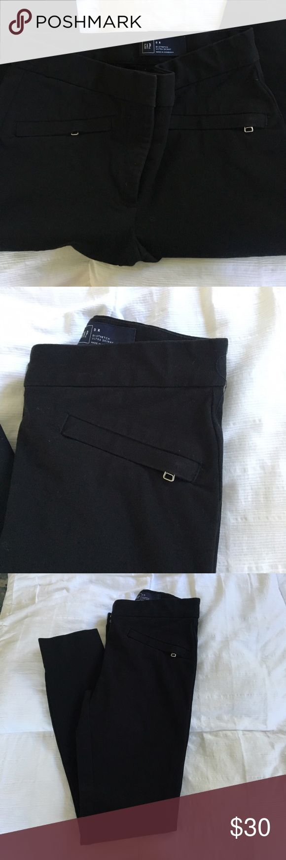 Gap Trousers Gap Black Trousers.  Fits stretchy. Very comfortable. Worn a few times to work. Perfect Condition.  Also Available in Navy. GAP Pants Trousers