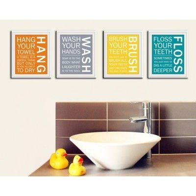 Bathroom Set Orange Grey Yellow Teal Craft Ideas Pinterest