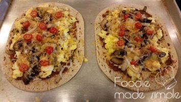 21 Day Fix Flatout Breakfast Pizza