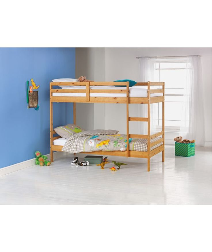 buy ellery single bunk bed frame natural at argoscouk your