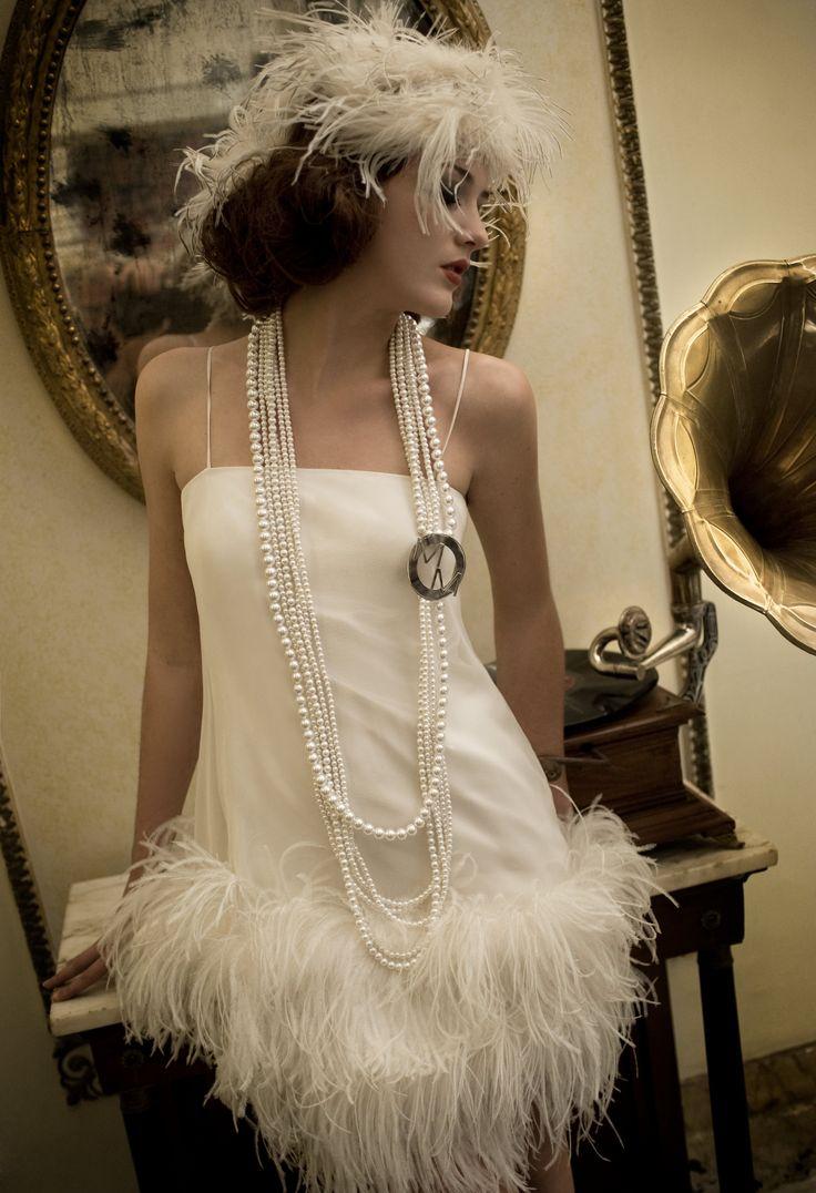 Woman&Bride  Fall-Winter 2011, Shooting Back in Time Dress Marina Mansanta Alta Moda