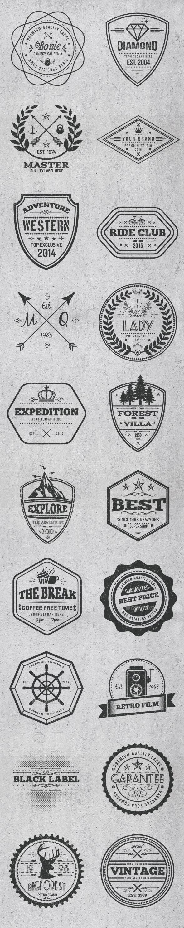 Vintage Style Badges and Logos Template Vector EPS, AI Illustrator. Download here: https://graphicriver.net/item/vintage-style-badges-and-logos-vol-3/17474371?ref=ksioks