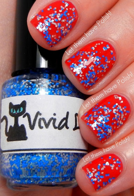 """Yay for Vivid Lacquer! Let them have Polish!: Happy """"Indie-pendence"""" Day!! Patriotic Mani Spam"""