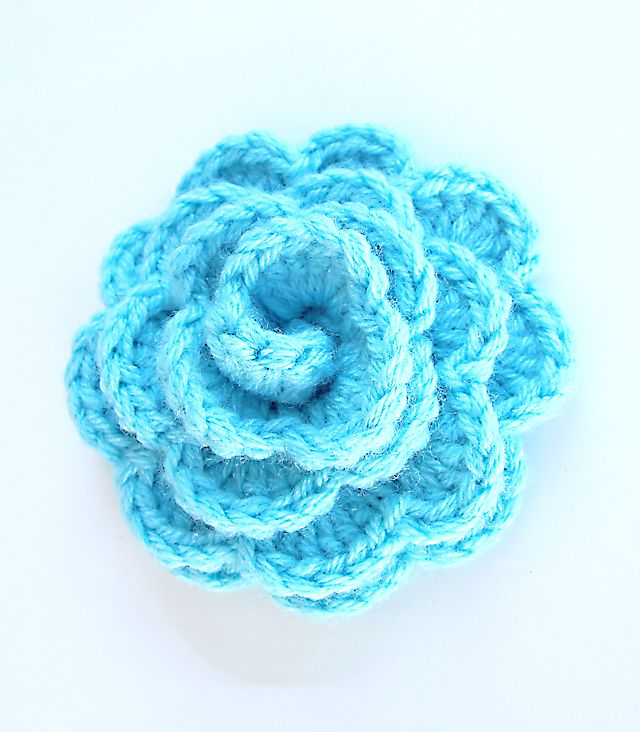 Crochet A Flower : Flower, Crocheted Flowers, Large Crochet Flowers, Chunky Crochet ...