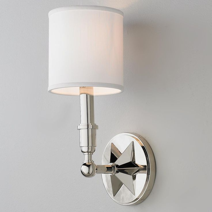 Classic Star Wall Sconce Sconces, Soho and Drum shade