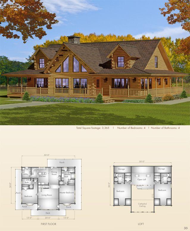 164 best images about log cabin homes on pinterest for Log cabin dream homes