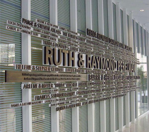 Premium donor wall for new-build facility in Philadelphia.