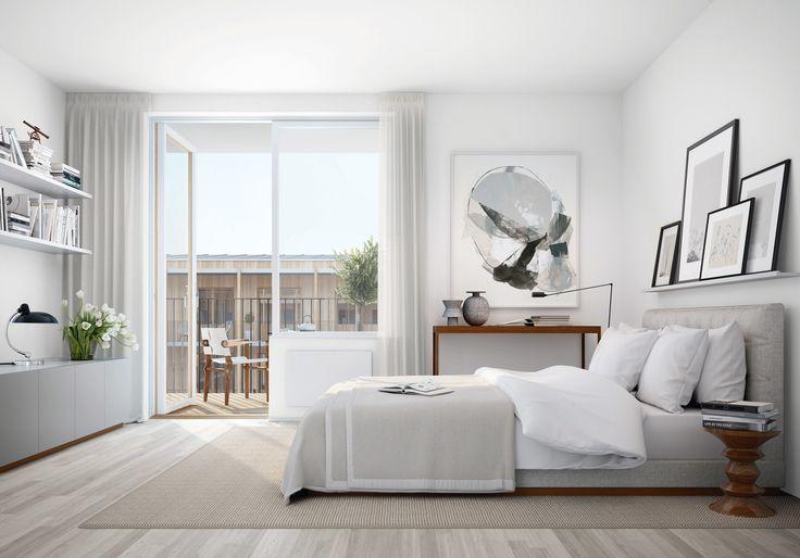 Una camera da letto totalmente bianca - A bedroom completely white   www.ristrutturainterni.com
