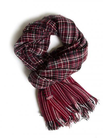 Heavy printed scarf. Measures/cm 63 x 190.p