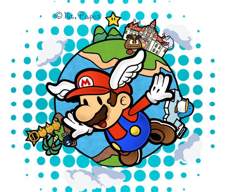 Super Paper Mario 64 By Https Www Deviantart Com Mr Paper On