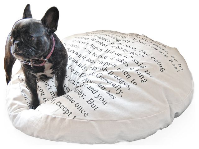 Tucker Buddy French Country Velveteen Rabbit Poly Fabric Cushion Dog Bed transitional-dog-beds