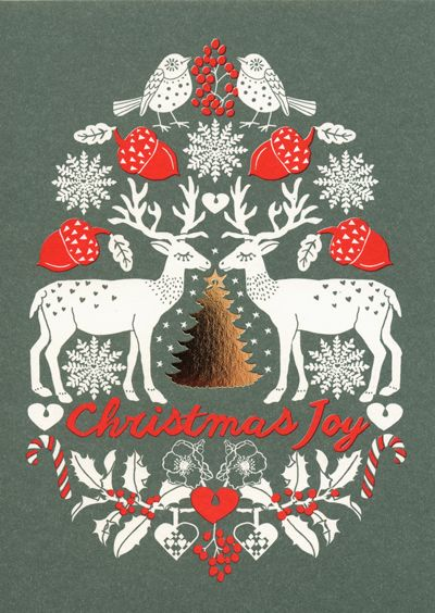 Scandinavian style Christmas cards are by design company Summer will be back.
