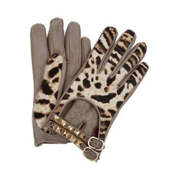 Valentino Animal Print Driving Gloves <3