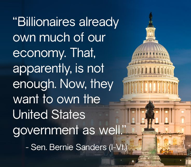 Seemingly the very sad Truth! ... spoken by the people's dynamic Independent Sen. Bernie Sanders