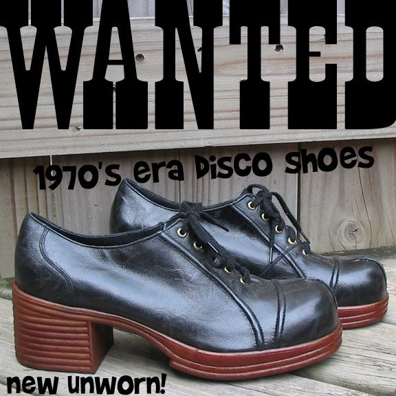 70's mens platform shoes