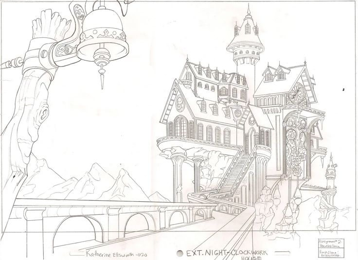 How to draw a haunted house house plan 2017 for Easy haunted house to draw