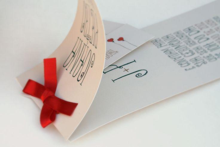 Convite de Casamento & Coração de Papel