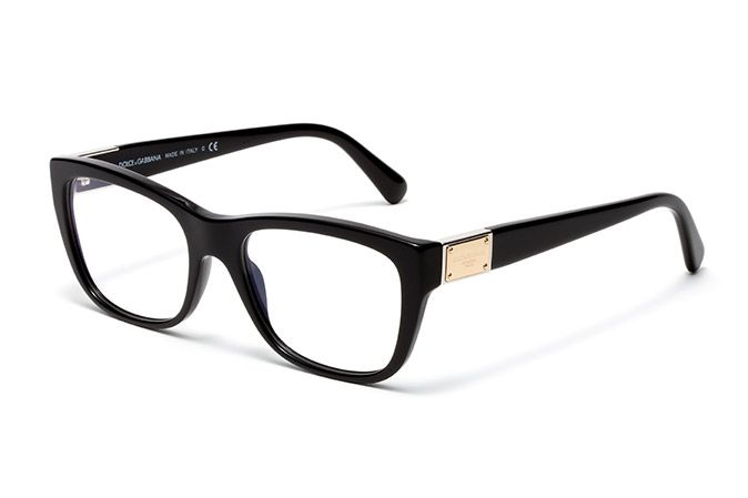 Womens black acetate eyeglasses with squared frame by ...
