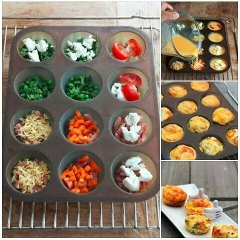 Muffin style omelettes