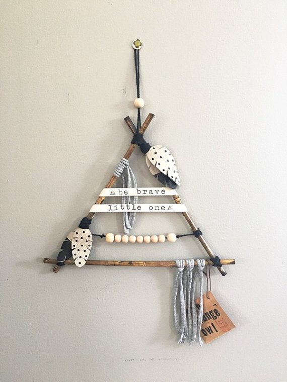 be brave little one tribal teepee wall hanging by makersmarketshop