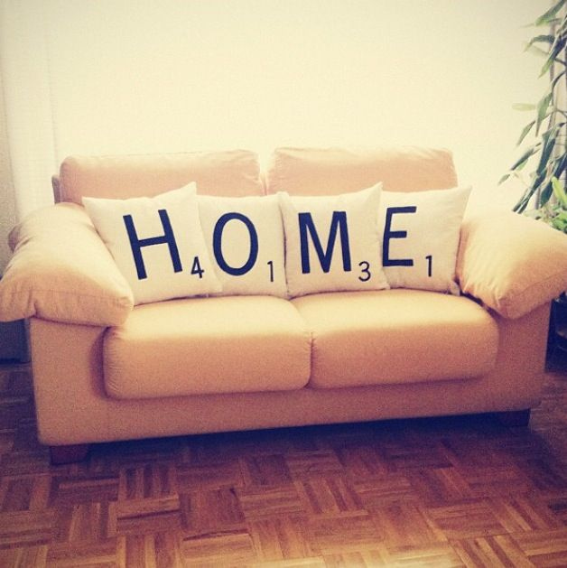 Cojines scrabble cushions - HOME - Olé mis cojines!