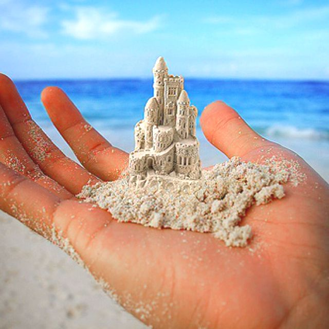 : At The Beaches, Pink Summer, Building, Sands Castles, Dreams, Beaches Life, Beaches Scene, Sea, Photo