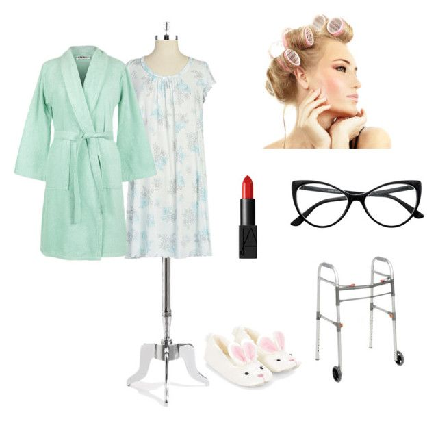 """Grandma costume"" by ariheart ❤ liked on Polyvore featuring Retrò, Miss Elaine, Kenzo, Accessorize and NARS Cosmetics"