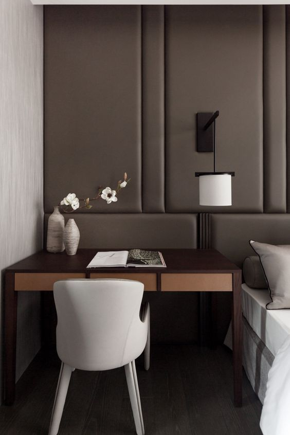 The claudia panelled headboard wall to wall and almost - Floor to ceiling headboard ...