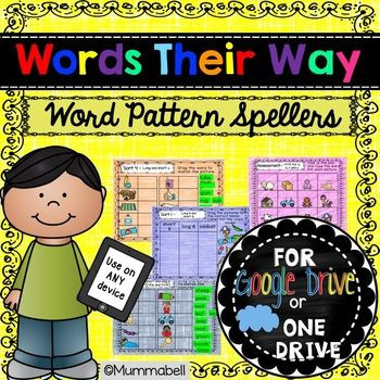 Words Their Way - Word Pattern Digital Resource *Each resource can be purchased separately or as a BUNDLE to save $$$$*. Click links for more information: Words Their