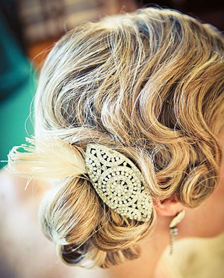 Finger wave side chignon