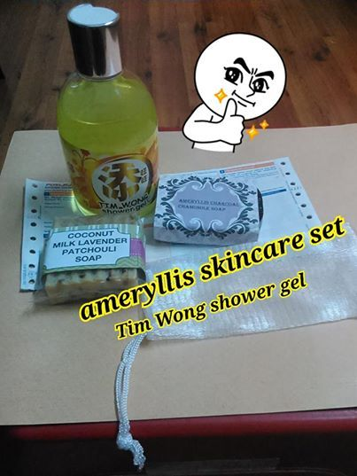 Huatttttttt lucky shower gel Tim Wong and ameryllis skincare set with charcoal soap,and coconut milk lavender patchouli soap, soap bag is posted tomorrow yeah.  interested to have nice skin and attract luck,love,wealth? Order now. Wechatjoey2383/whatssapp 0123757185 joeyshoppingmalls.blogspot.com #skincare #handmadesoap #timwongshowergel