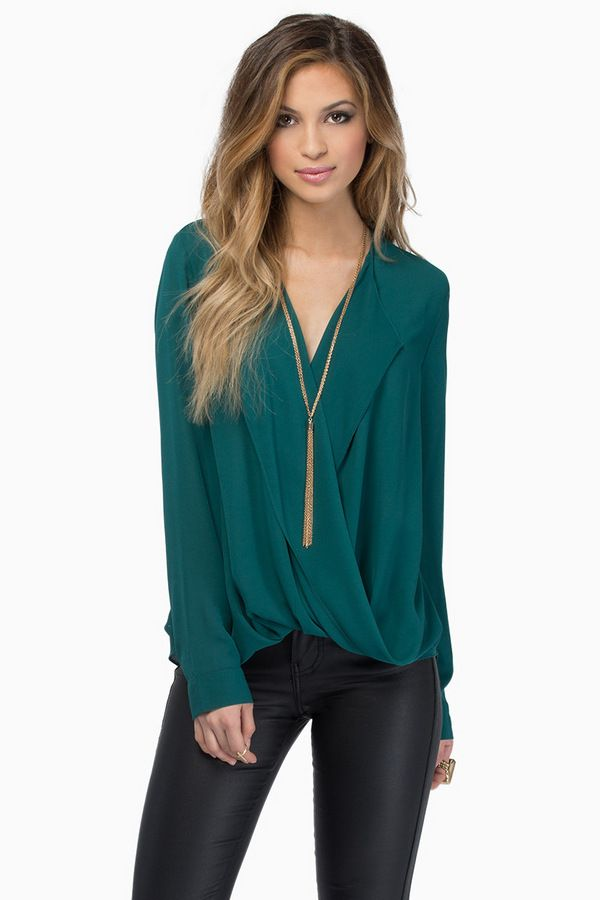 Tobi Misty Haze Blouse. I love the color, but the question is -- will it still look good on my curvier frame?