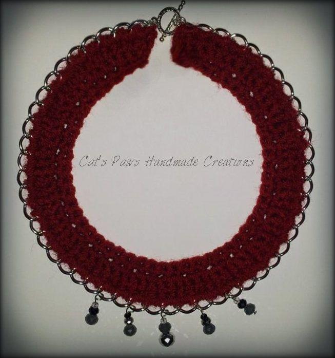 ~ Crochet Chain Statement Necklaces ~