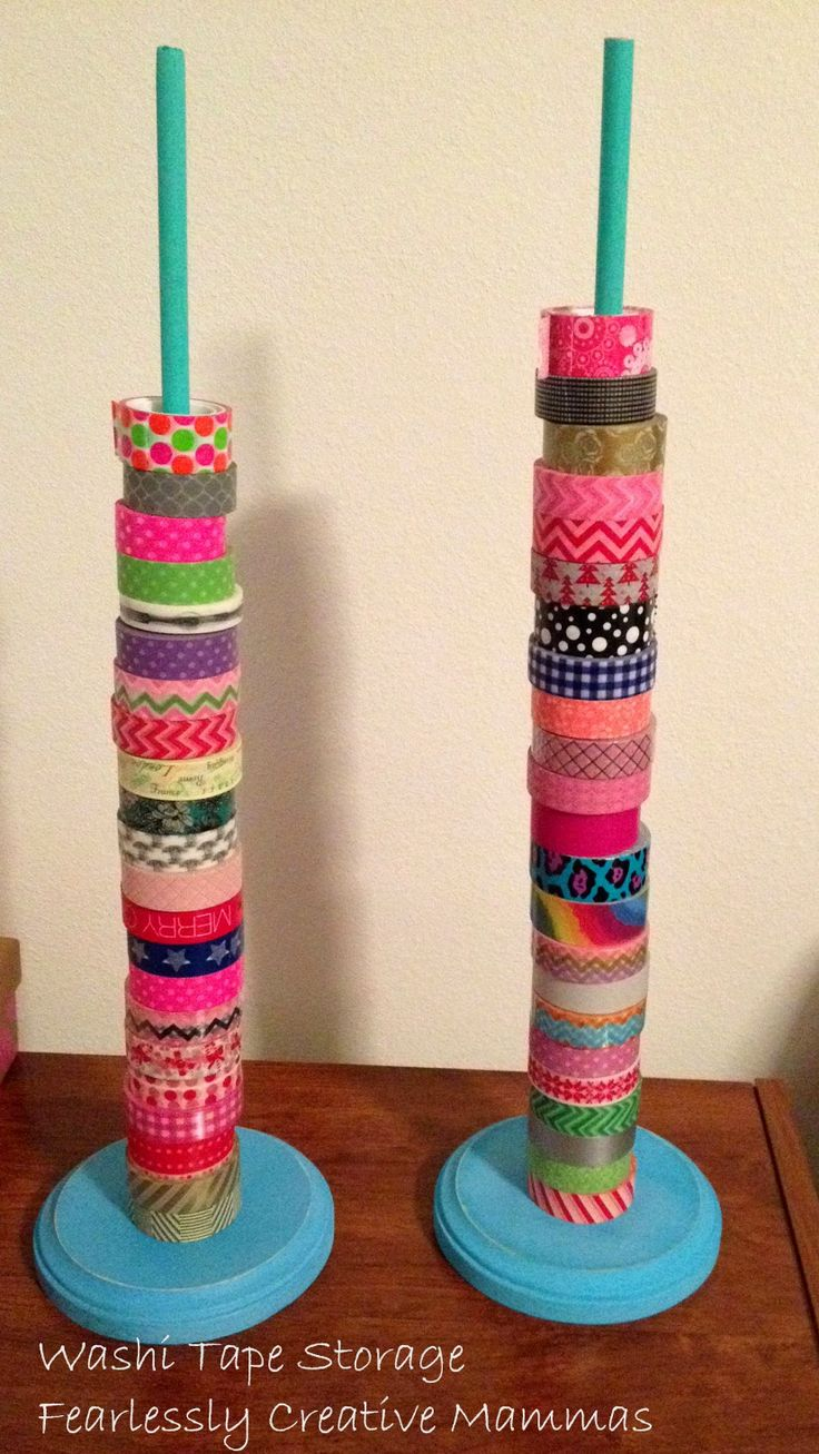 Fearlessly Creative Mammas: Tips to De-Junk and Get Organized Plus Washi Tape Storage