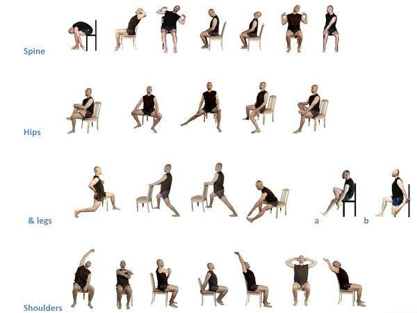 Chair stretching exercises YESnoFITNESS | YESnoFITNESS.com