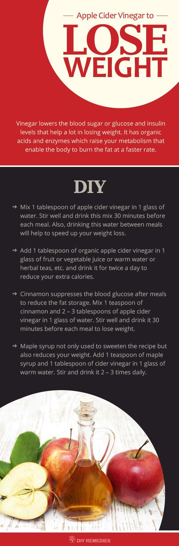 Want to know how to use apple cider vinegar for weight loss. Here we are providing you with the best of 3 methods that are more popularly used for reducing your weight.