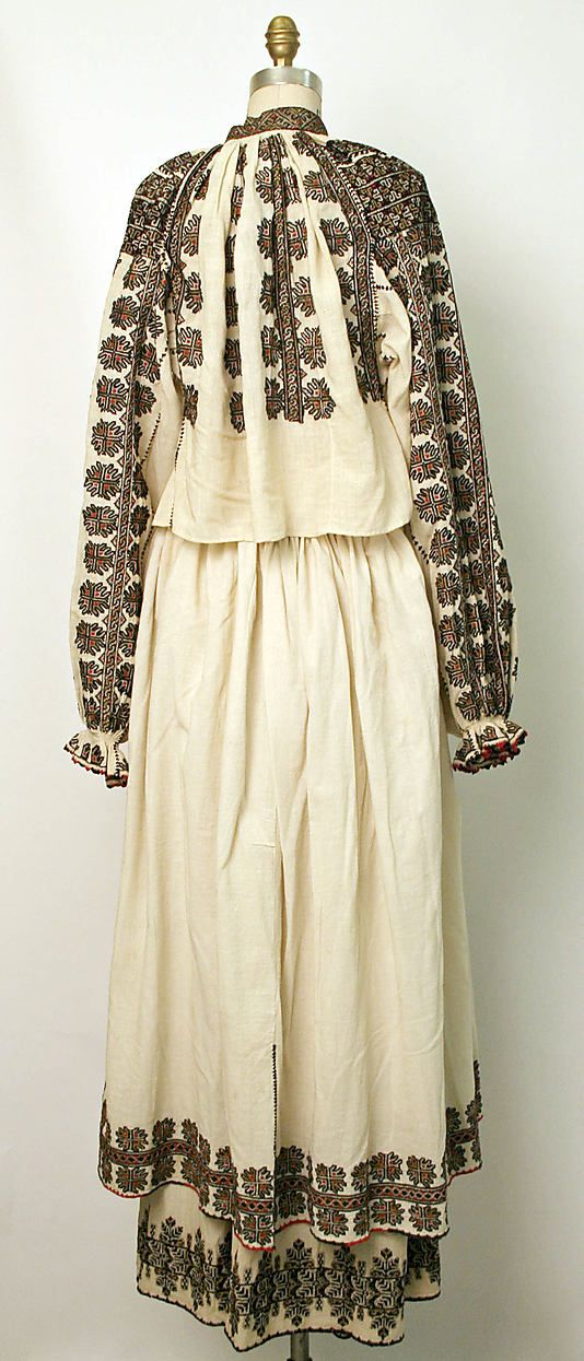 Ensemble Date: 19th century Culture: Romanian Medium: cotton, silk