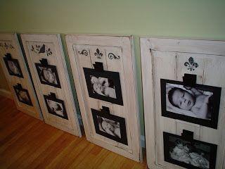 cabinet door picture frame