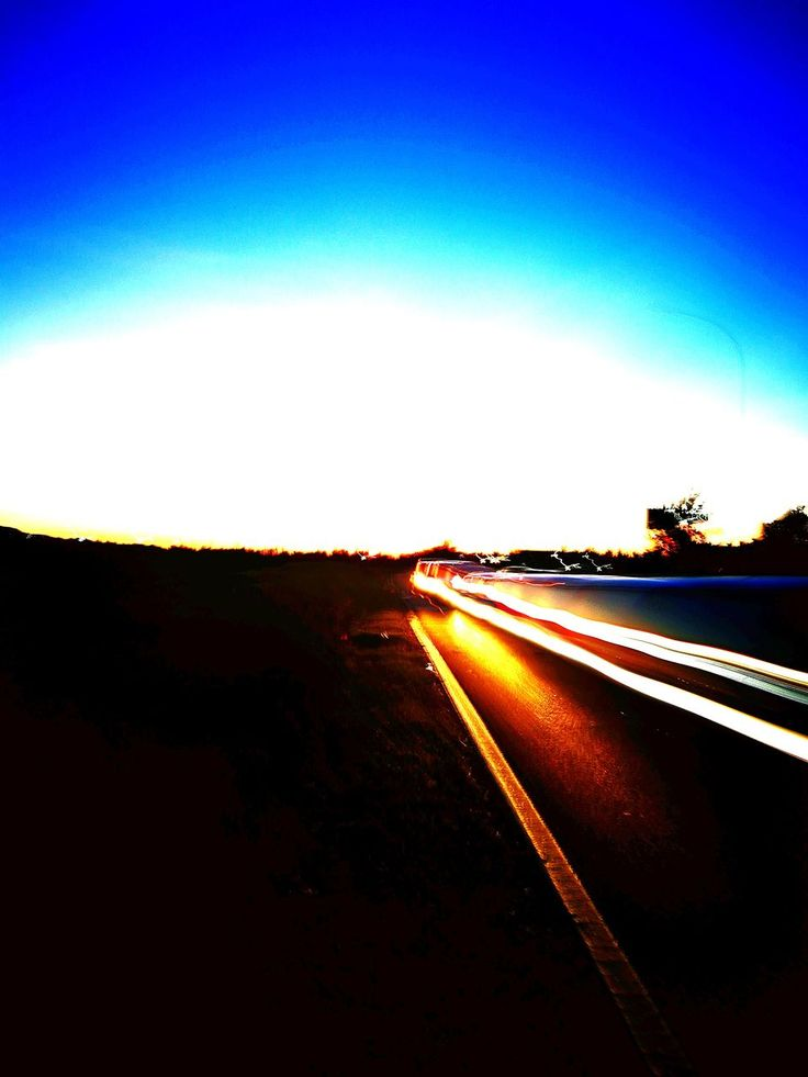 road, speed, transportation, no people, outdoors, sky, motion, nature, night, illuminated, landscape, high street