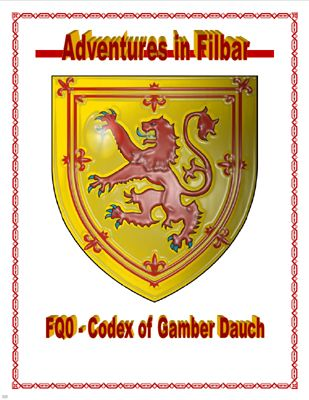 FQ0 - Codex Of Gamber Dauch, a free role playing game supplement from Adventures in Filbar. #RPG